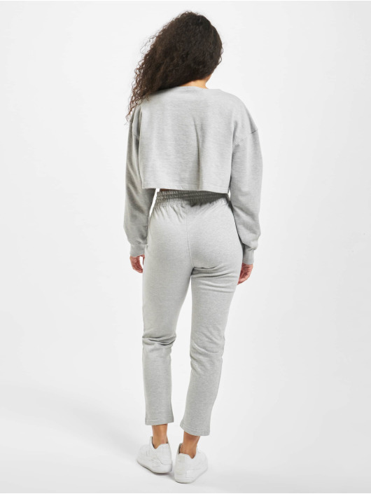 Missguided Suits Zip Crop gray