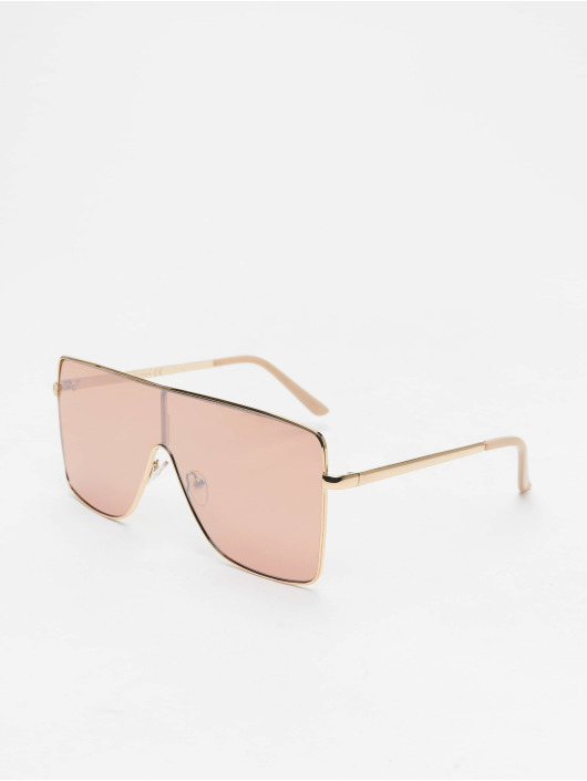 Missguided Sunglasses Large Clear Visor gold
