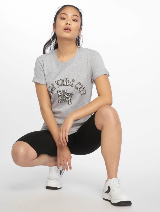 Missguided T-Shirt NYC Snake Print Graphic gray
