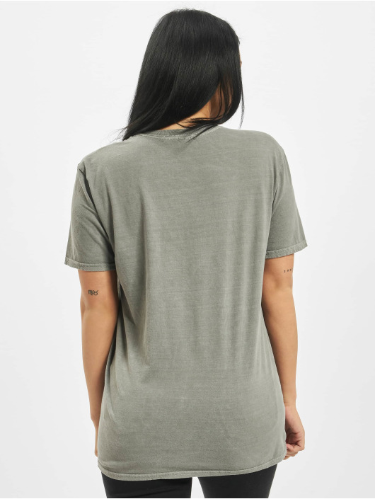 Missguided T-Shirt Flower Vintage Wash Graphic gray