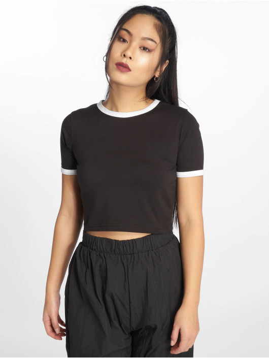Missguided Top Ringer Short black