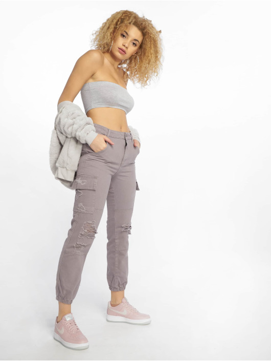 Missguided Top Basic gray