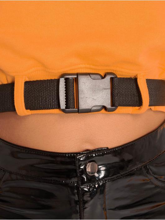 Missguided Top Belted Crop Sweat orange