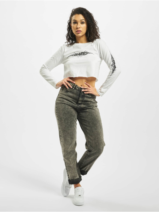 Missguided Top Baby Tribal Graphic white