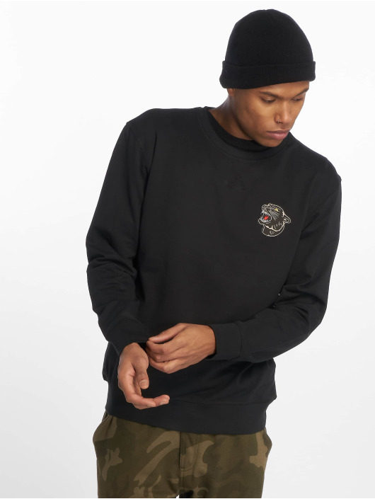 Mister Tee Pullover Embroidered Panther black