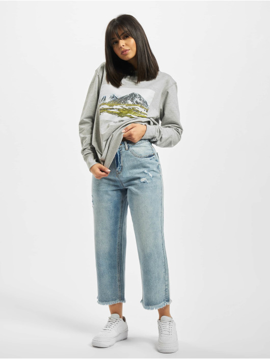Mister Tee Pullover Ladies Local Planet Crewneck gray