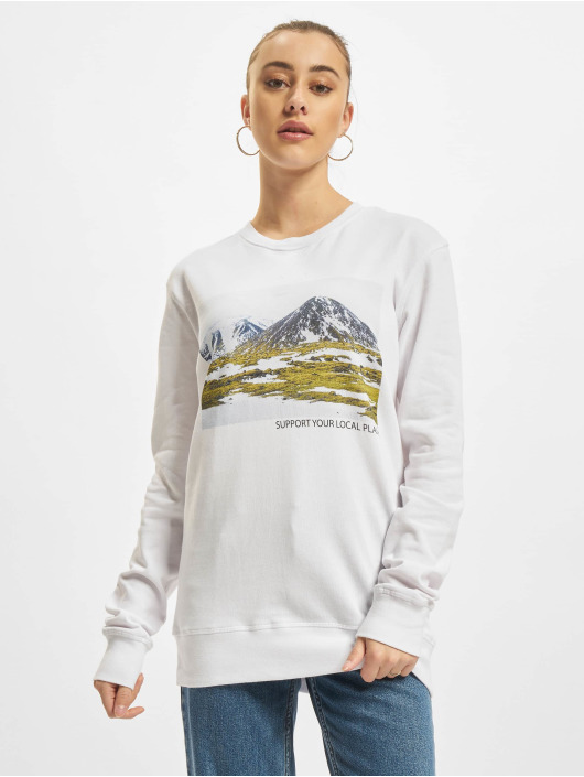 Mister Tee Pullover Local Planet white
