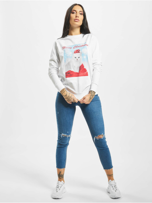 Mister Tee Pullover Merry Christmas white