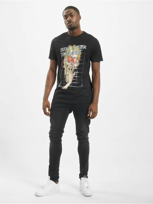 Mister Tee T-Shirt Silence black