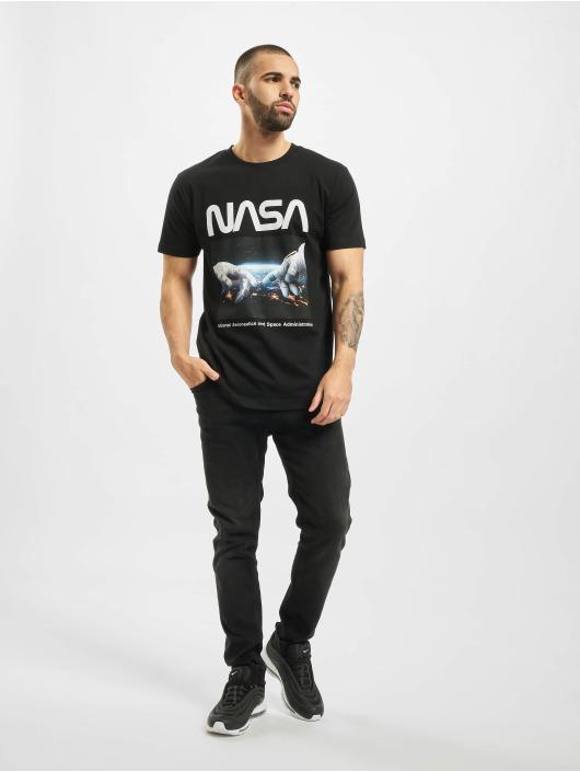 Mister Tee T-Shirt Nasa Astronaut Hands black