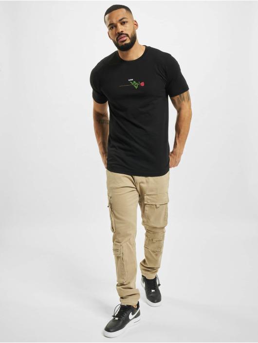 Mister Tee T-Shirt Rose Love black