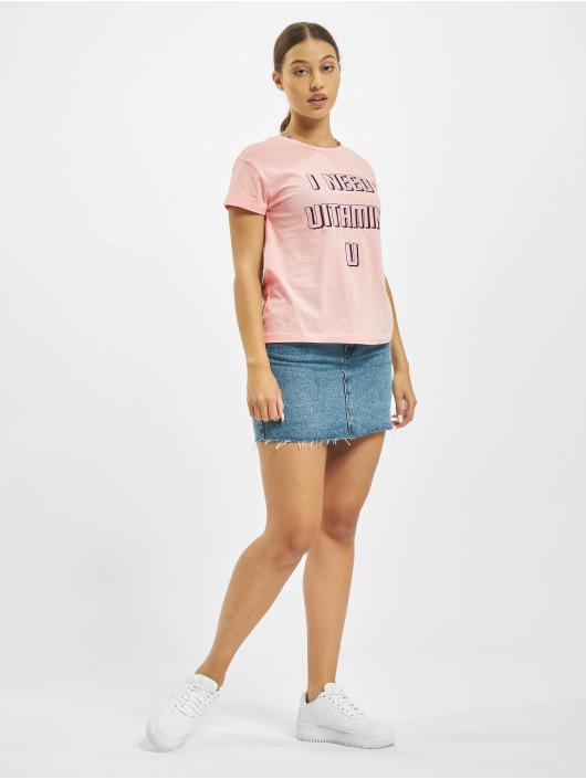 Mister Tee T-Shirt Vitamin U Box rose