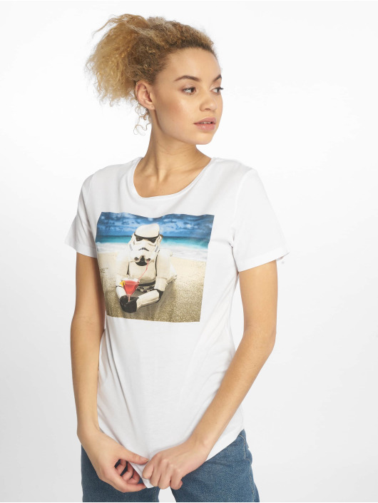 Mister Tee T-Shirt Ladies Stormtrooper white