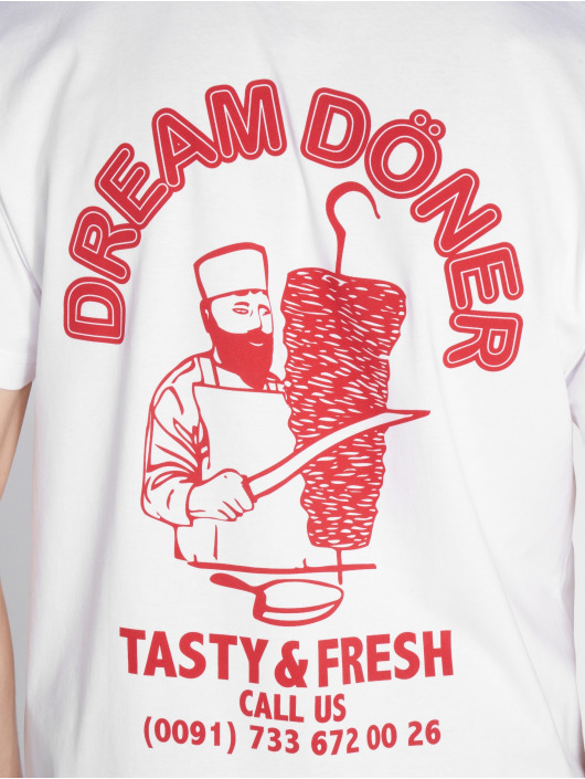 Mister Tee T-Shirt Dream Döner white