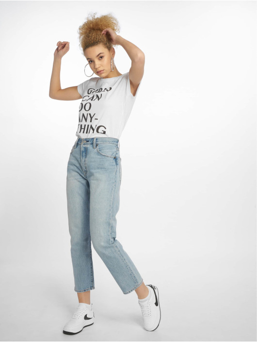 Mister Tee T-Shirt Girls Can Do Anything white