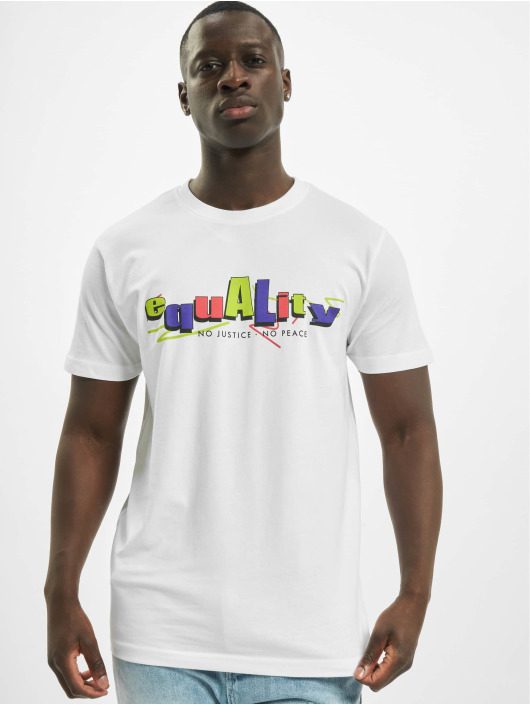 Mister Tee T-Shirt Colored Equality white