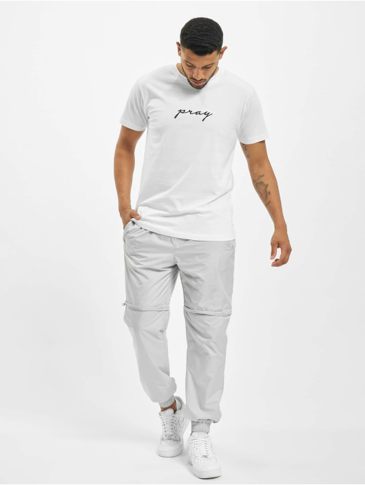 Mister Tee T-Shirt Pray Emb white