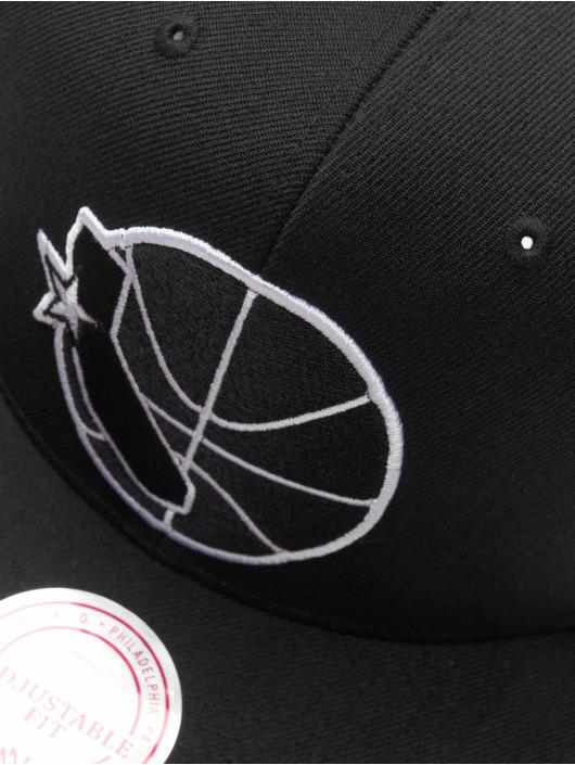 Mitchell & Ness Snapback Cap NBA Golden State Warriors Wool Solid black