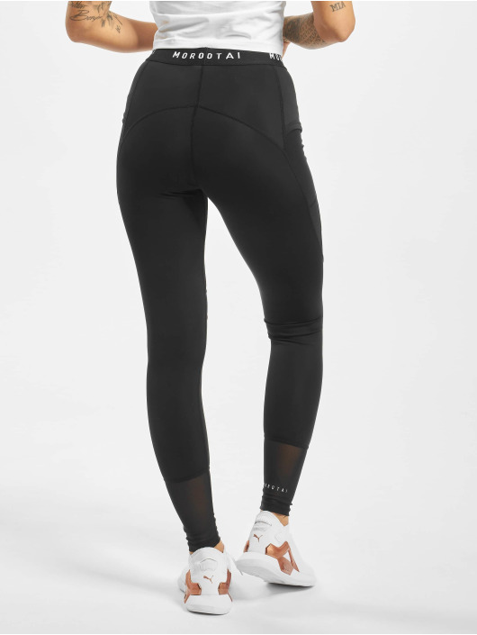 MOROTAI Leggings/Treggings Naka Mesh Performance black