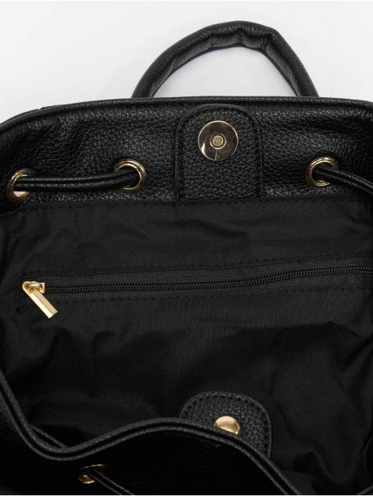 NA-KD Backpack Faux Leather Drawstring black
