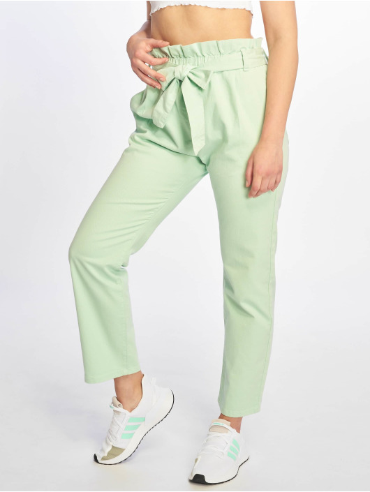 NA-KD Chino pants Paper Bag green