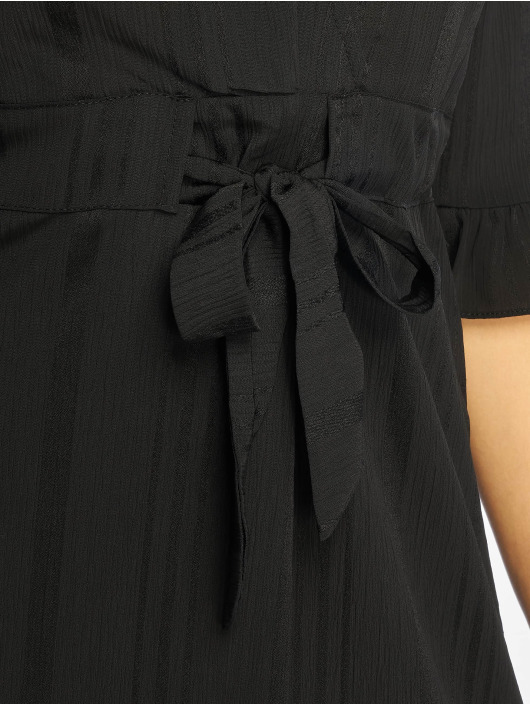 NA-KD Dress Small Flower Wrap black