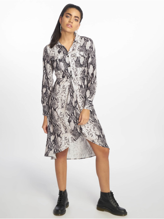NA-KD Dress Snake Printed Shir gray