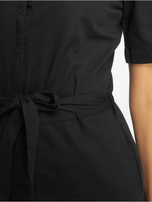 NA-KD Jumpsuits Short Sleeve Button Up black