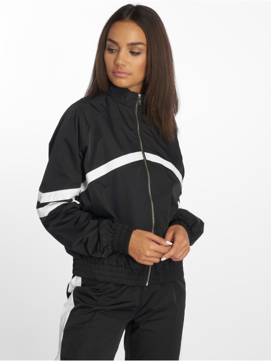 NA-KD Lightweight Jacket Stripe Detailed black