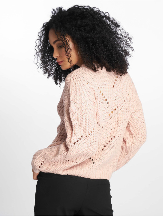 NA-KD Pullover Vinga Hole Knit pink