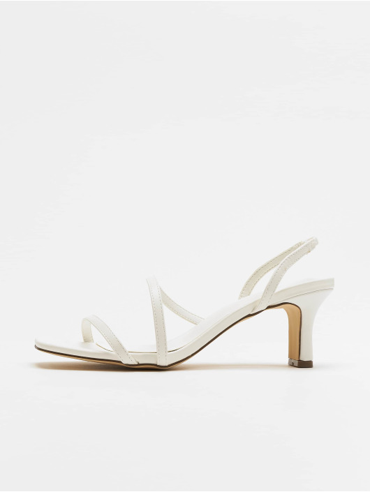 NA-KD Sandals Asymmetric Straps white