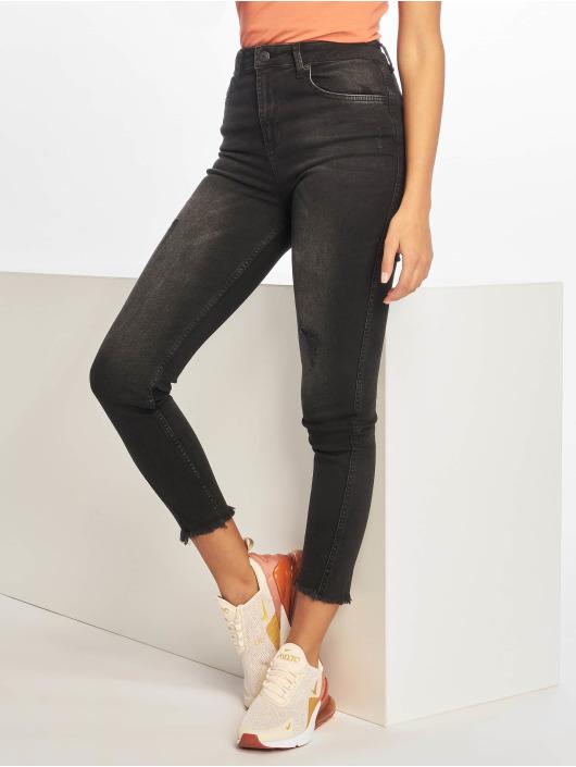 NA-KD Skinny Jeans Twisted black