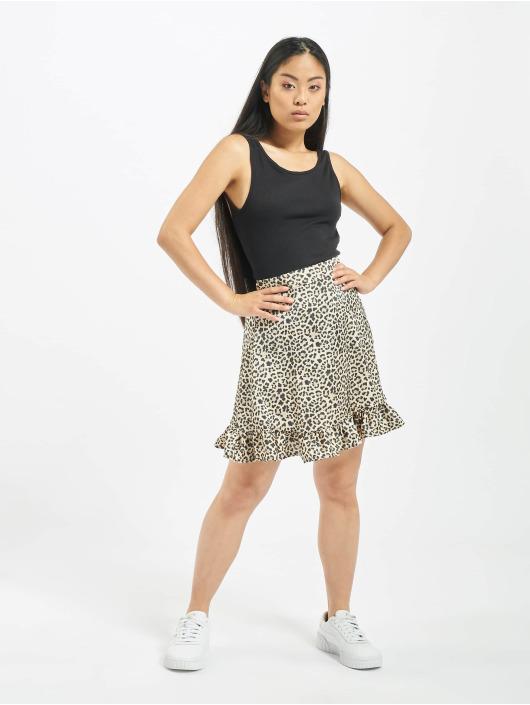NA-KD Skirt Flounce beige