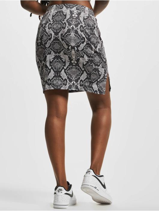 NA-KD Skirt Serpent black