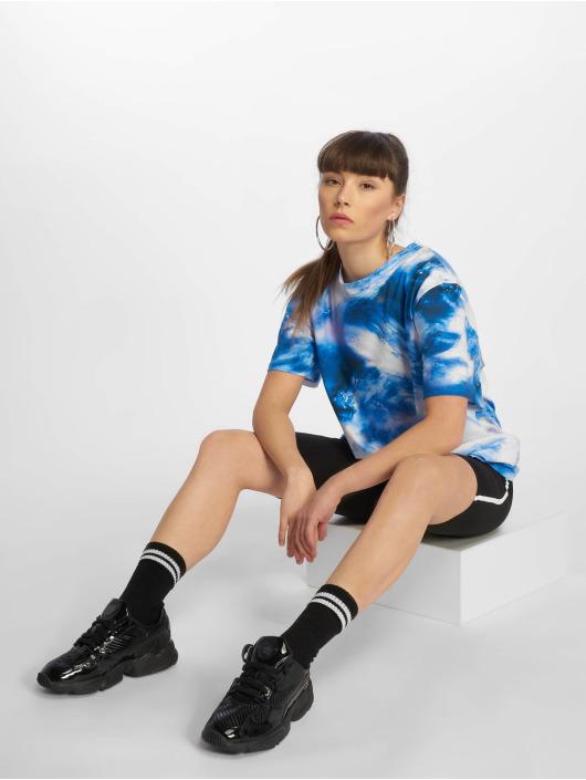 NA-KD T-Shirt Aquarelle Printed blue