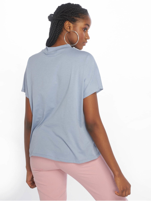 NA-KD T-Shirt High Neck blue