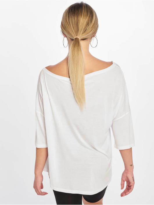 NA-KD T-Shirt Off Shoulder Loose white