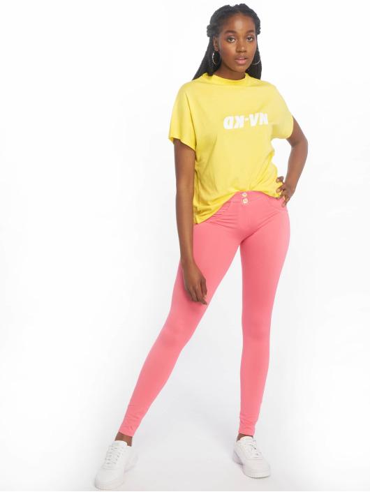 NA-KD T-Shirt High Neck yellow
