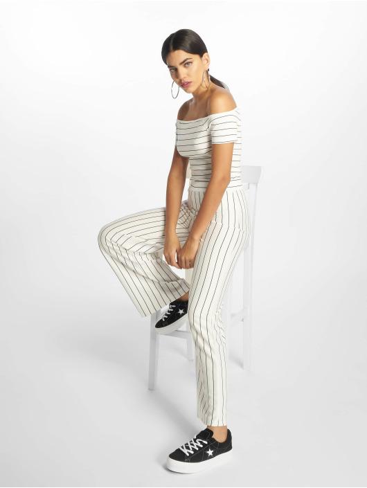 NA-KD Top Strip Off white