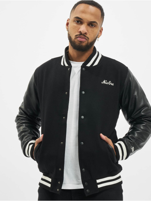 New Era College Jacket Image Varsity black