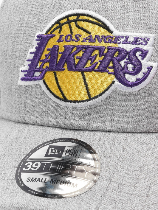 New Era Flexfitted Cap Heather 39Thirty LA Lakers gray