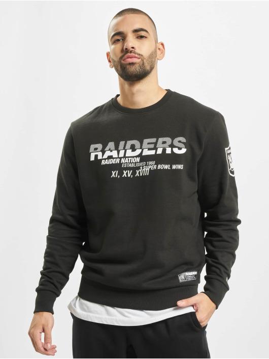 New Era Pullover NFL Oakland Raiders Wordmark Slogan Crew black