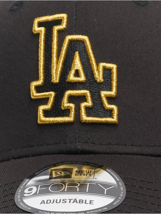 New Era Snapback Cap Mlb Properties Los Angeles Dodgers Ne Metallic Logo 9forty black
