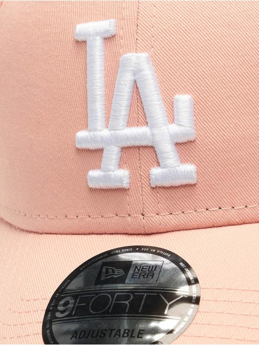 New Era Snapback Cap MLB LA Dodgers Essential 9Forty pink