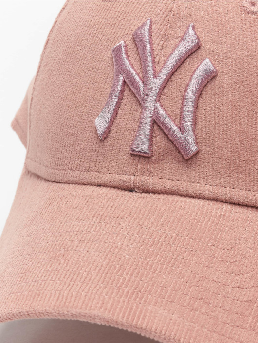 New Era Snapback Cap MLB NY Yankees Pastel Cord 9Forty rose