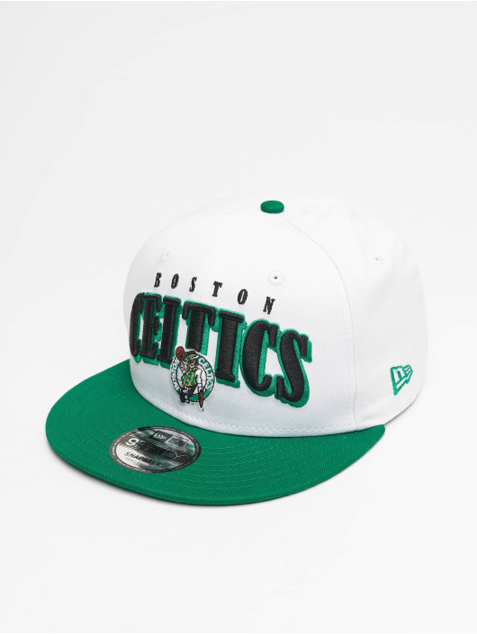 New Era Snapback Cap NBA Boston Celtics Retro Pack Flat Visor 9Fifty white