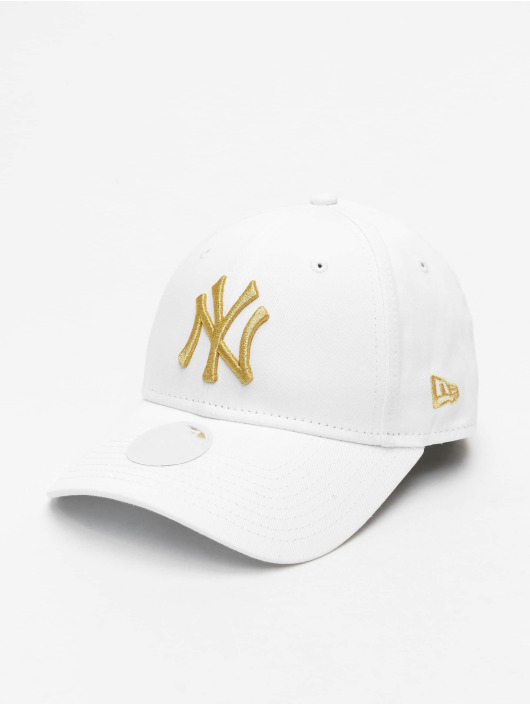 New Era Snapback Cap MLB NY Yankees Metallic 9Forty white