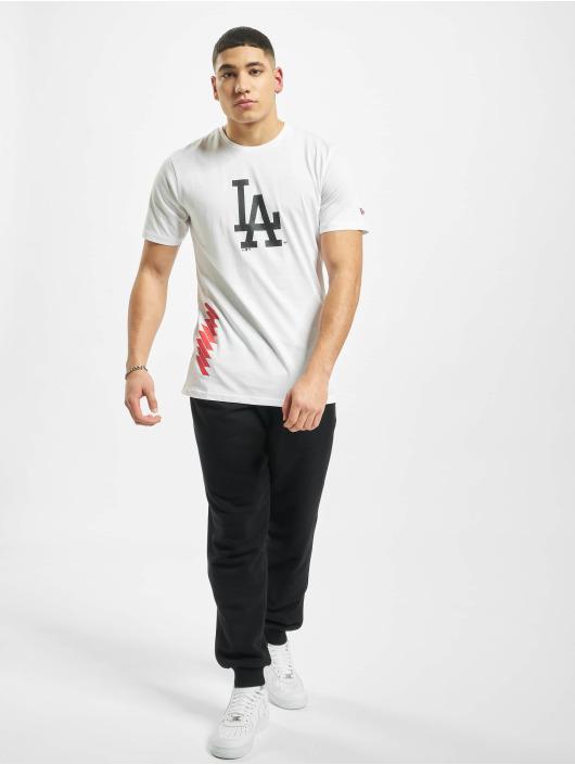 New Era T-Shirt MLB LA Dodgers Blue Print Graphic white