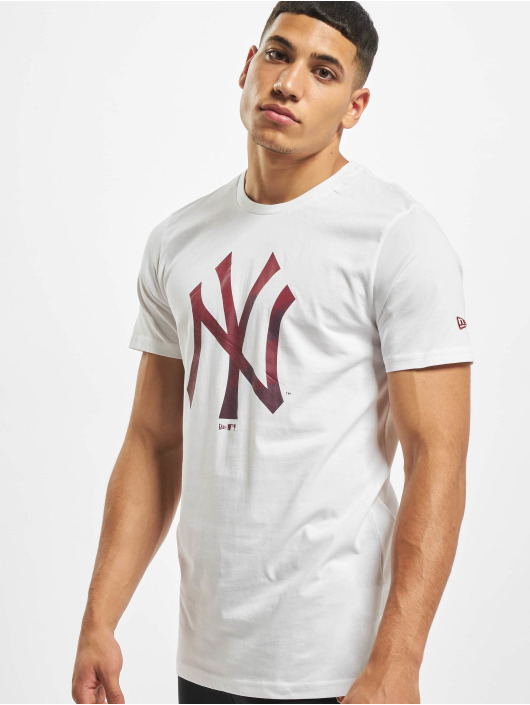 New Era T-Shirt MLB NY Yankees Camo Infill Logo white