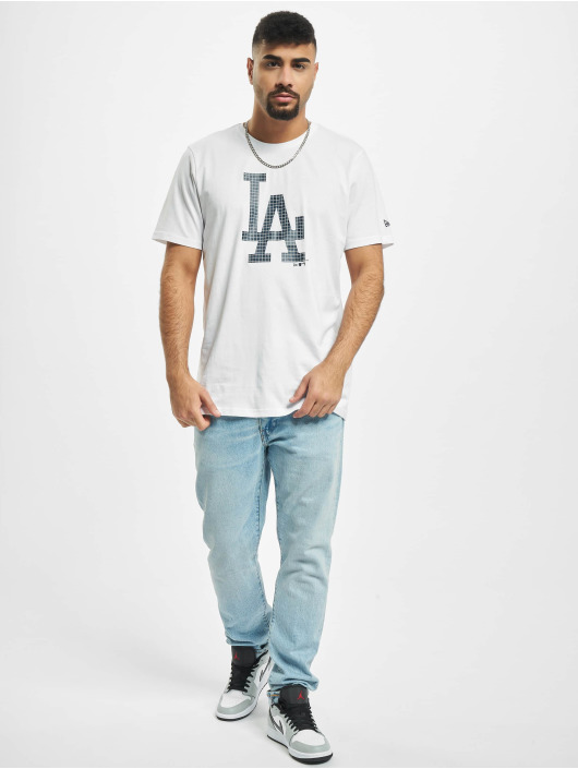 New Era T-Shirt MLB Infill Team Logo Los Angeles Dodgers white
